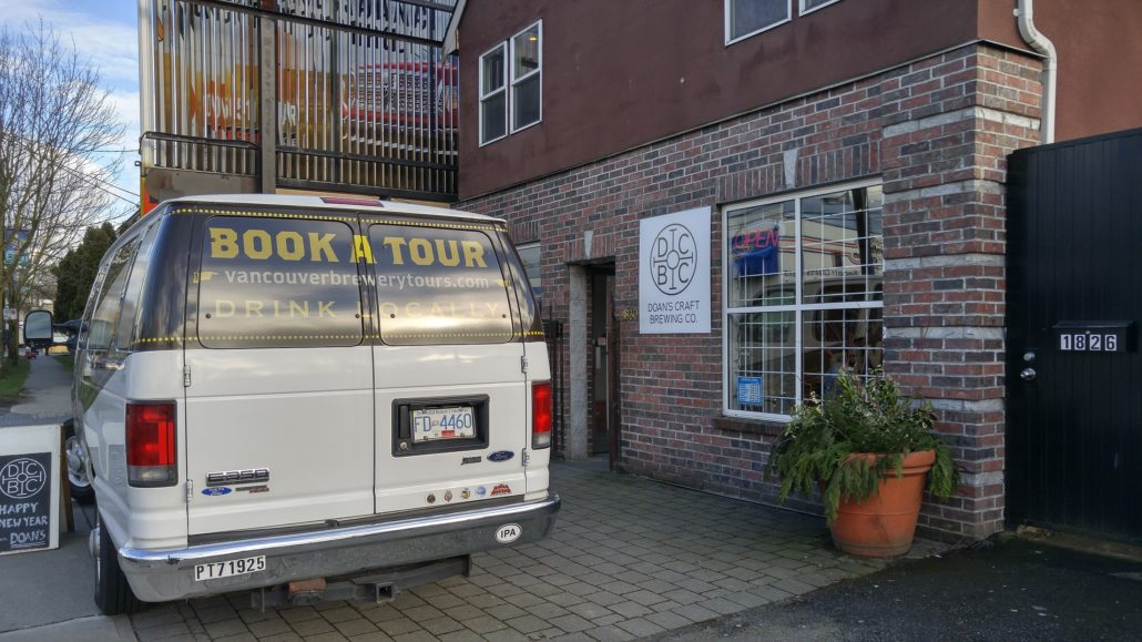 Vancouver Brewery Tours at Doan's Craft Brewing