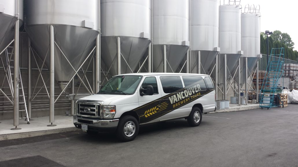 Vancouver Brewery Tours Van at Steamworks Brewing
