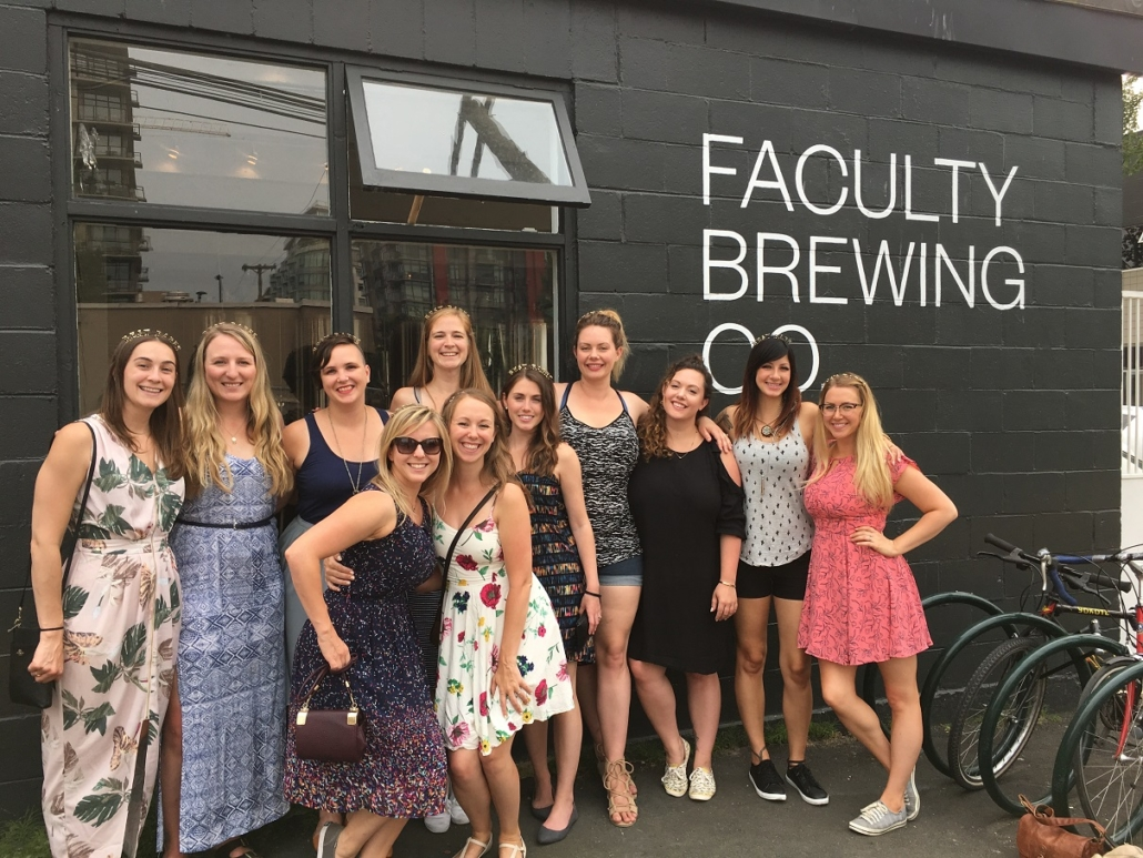 Bachelorette Party Ideas Vancouver - Bachelorette Brewery Tour at Faculty Brewing