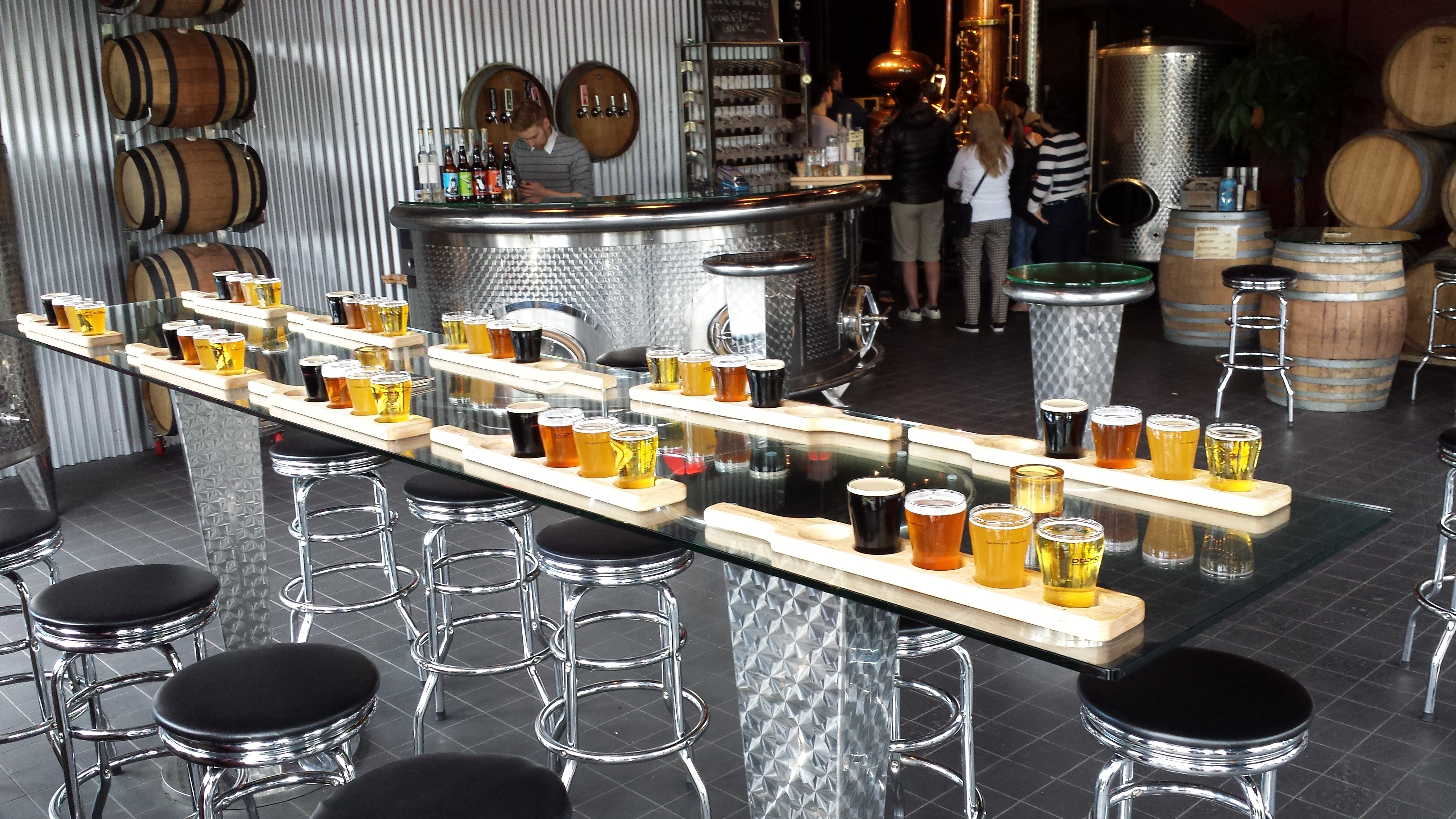 Brewery Tour - Beer Flights at Deep Cove Brewers