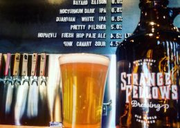 Vancouver Brewery Tours Inc. - Beer and Growler List at Strange Fellows Brewing