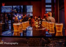 Beers at Deep Cove Brewers tasting room