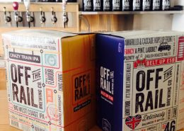 Beers at Off the Rail Brewing