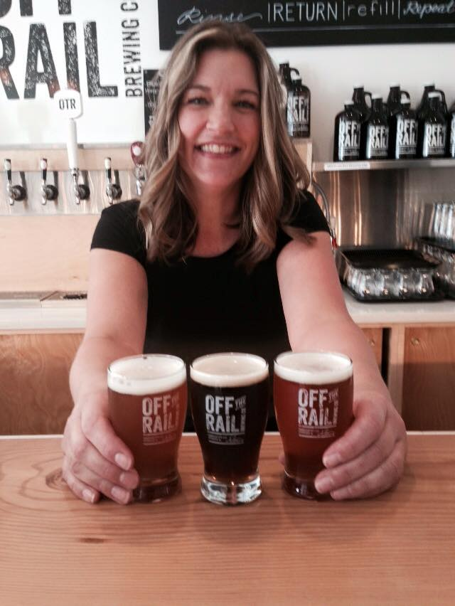 Vancouver Brewery Tours Inc. -Beers being served at Off the Rail Brewing
