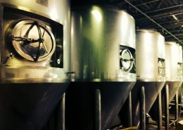Vancouver Brewery Tours Inc. - Bomber Brewing Fermentation Tanks