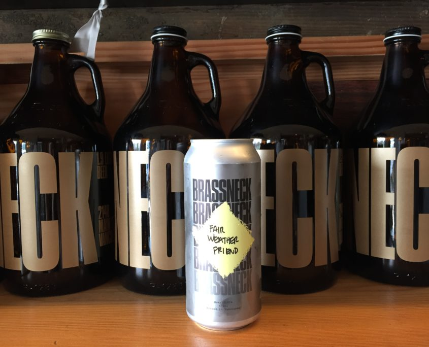 Brassneck Brewery Canned Beer and Growlers