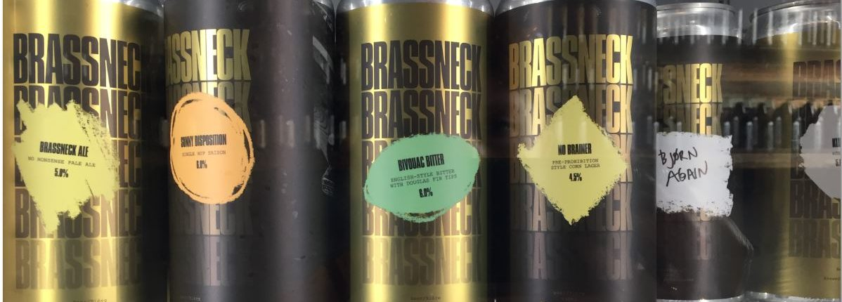 Brassneck Brewery Canned Beers in Fridge 2
