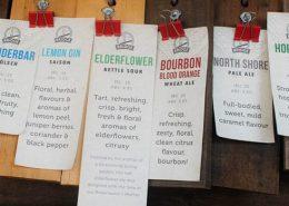 Bridge Brewing Beer Board