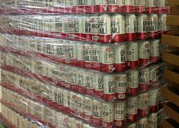 Cans at Off the Rail Brewing