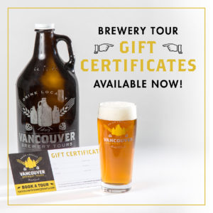 Vancouver Brewery Tours Gift Certificiate