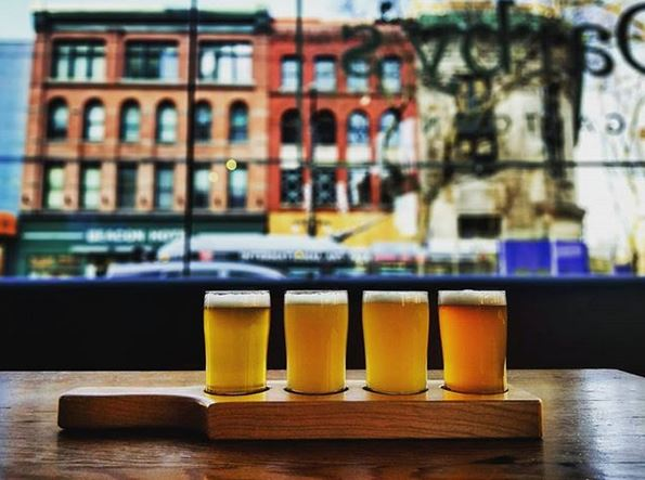 Darby's Gastown Beer Flight - Gastown Pub Walk