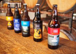 Deep Cove Brewers beer line up