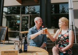 Vancouver Brewery Tours Inc. -Vancouver Brewery Tours Inc. - Deep Cove Brewers beers on the patio