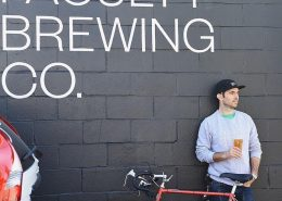 Vancouver Brewery Tours Inc - Faculty Brewing outside the brewery