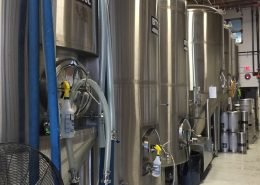 Vancouver Brewery Tours Inc. -Fermentation Tanks at Off the Rail Brewing