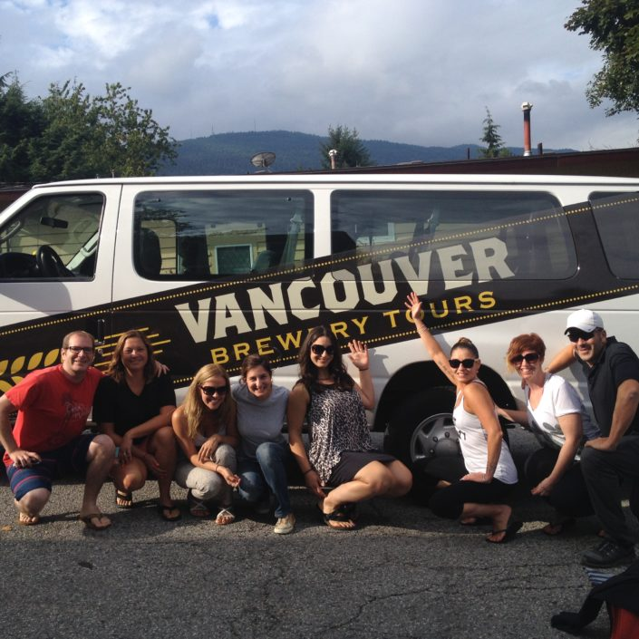 Group Photo at the Vancouver Brewery Tours Van