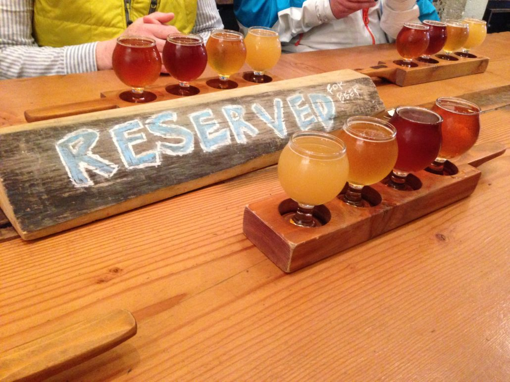 Holiday Staff Party Ideas - Vancouver Brewery Tours - Reserved Table