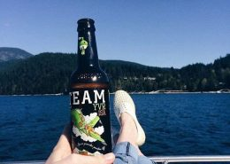 Vanouver Brewery Tours Inc. -Steamworks Brewing on a boat