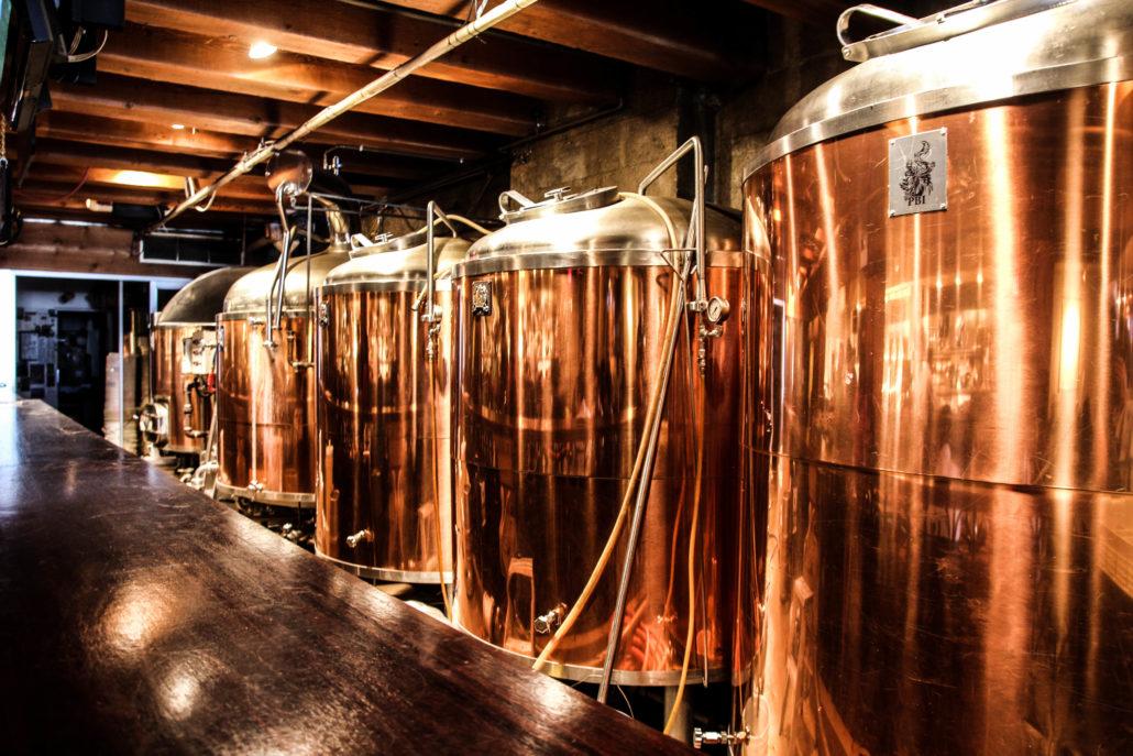 Steamworks Brewpub - Fermenation Tanks - Gastown Pub Walk