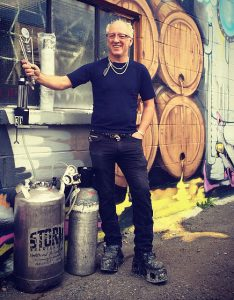 Vancouver Brewery Tours Inc. Storm Brewing Owner James Walton outisde the brewery