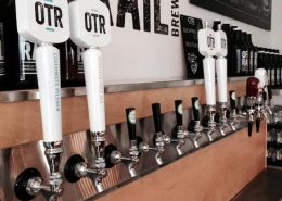 Vancouver Brewery Tours Inc. -Tap Handles at Off the Rail Brewing