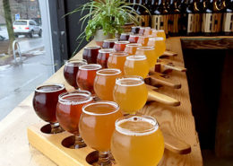 Vancouver Brewery Tours - Beer paddles at Brassneck Brewery