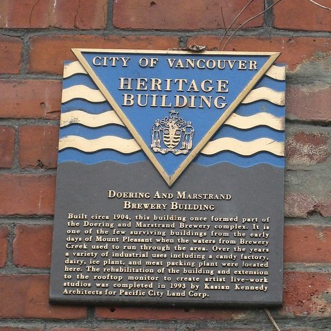 Vancouver Brewery Tours - Doering and Marstrand Heritage Building