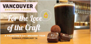 Vancouver Brewery Tours Inc. - For the Love of the Craft Valentines Tour