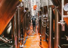 Vancouver Brewery Tours Inc. - Tank Farm at Parallel 49 Brewing Company