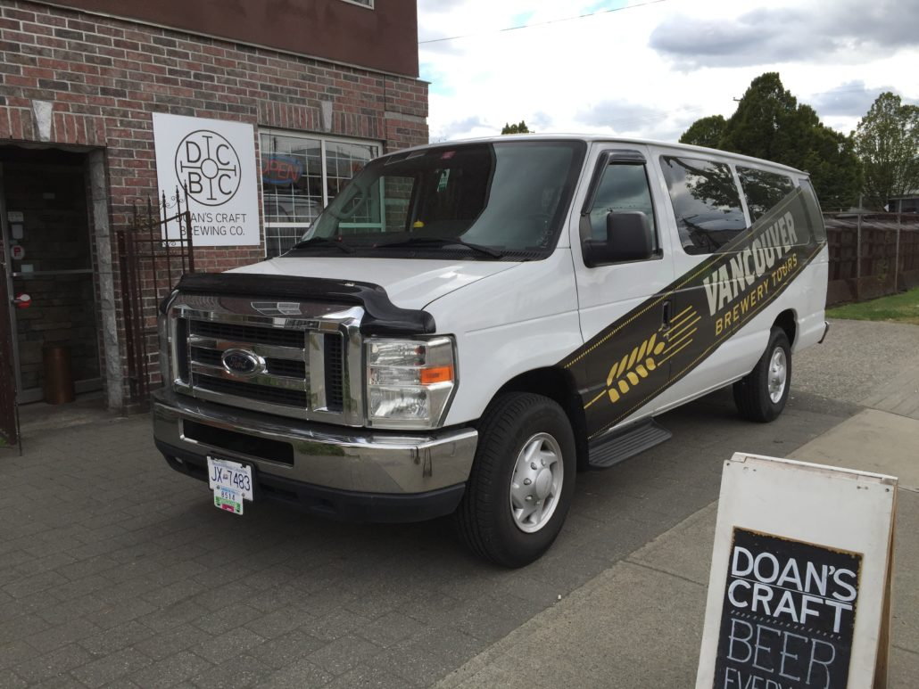 Vancouver Brewery Tours Van at Doan's Craft Brewing