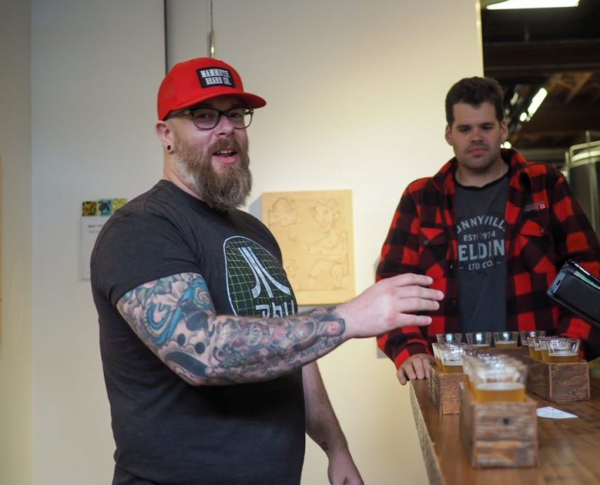 Vancouver-Brewery-Tours -Welcom-to-beer-topia-beers-at-strange-fellows-brewing