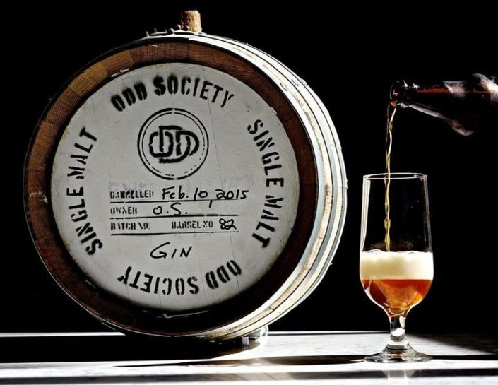 Vancouver Distillery Tour - Barrels and Behind the Scenes - Odd Society Spirits Barrel
